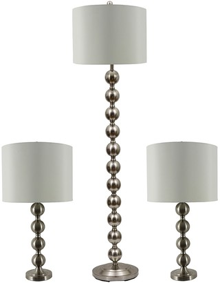 Decor Therapy Ettie Stacked Ball Lamp 3-Piece Set