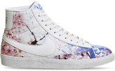 Nike Printed Leather And Fabric Trainers