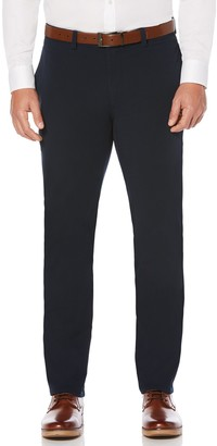 Savane Men's Flat Front Tailored Fit Complete Comfort Khaki Chino