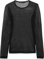 Marc by Marc Jacobs Cotton-blend mesh top