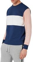 Topman Critical Print Colorblock Sweatshirt