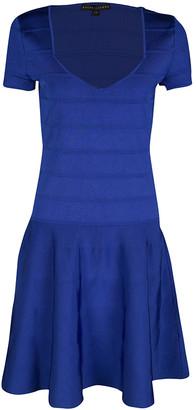 Ralph Lauren Sapphire Blue Short Sleeve Bandage Skater Dress L