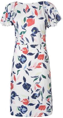 Gant V Neck Print Dress Ladies