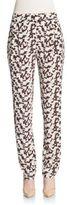 Derek Lam 10 Crosby Relaxed Printed Silk Trousers