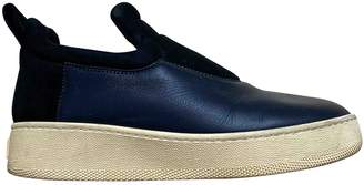 Celine Pull On Navy Suede Trainers