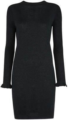 Whistles Frill Cuff Sparkle Knit Dress