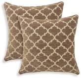 Essentials 2pk Sandglass Chenille Geometric Throw Pillow