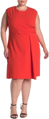 Rachel Roy Asymmetric Twist Dress (Plus Size)