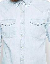 Edwin Denim Shirt Memphis Western Bleach Wash
