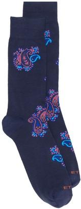 Etro Paisley Pattern Jacquard Socks