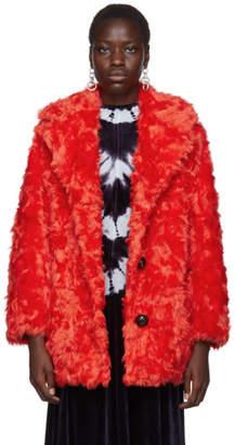 Proenza Schouler Red PSWL Faux Shearling Coat