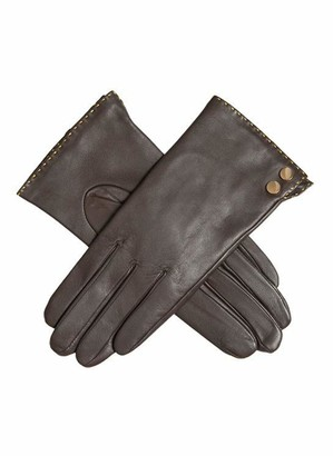 Dents Kimberly Women's Leather Gloves with Metallic Details MOCCA M