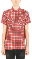 Neil Barrett Checked Red/black Cotton Shirt