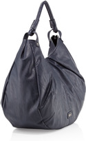 Romeo & Juliet Couture R&J Handbags by Bree Soft Pleat Hobo, Navy