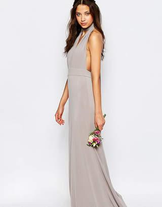 TFNC Tall Tall WEDDING Multiway Fishtail Maxi Dress-Grey