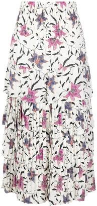 Etoile Isabel Marant Orfeo floral-print skirt
