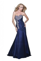 GiGi Long Trumpet Gown with Jeweled Bodice 16226