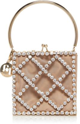 Rosantica Garofano Embellished Gold-Tone Top Handle Bag