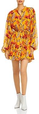 A.L.C. Jen Silk Printed Fit And Flare Dress