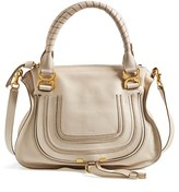 Chloé 'Medium Marcie' Leather Satchel - White