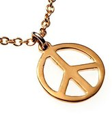 "From War to Peace Delicate Peace Symbol -dipped Pendant Necklace on 18"" Rolo Chain"