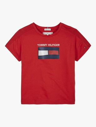 Tommy Hilfiger Tommy Hifiger Girls' Fun Flag T-Shirt