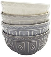 Mason Cash Baker Lane Food Preparation Bowls, Grey/Multi-Colour, 10x10x5 cm, Set of 4