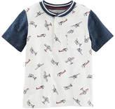 Osh Kosh Oshkosh Short Sleeve Jersey Henley Tee - Toddler Boys