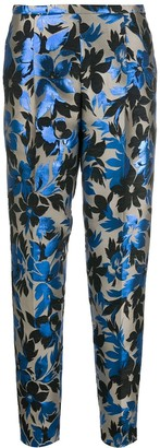 Boutique Moschino Floral-Embroidery Tapered Trousers