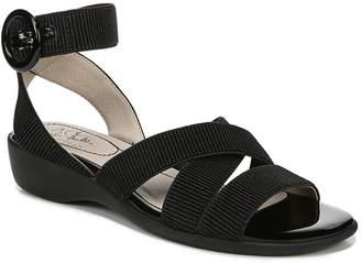LifeStride Ribbed Ankle Strap Sandals - Temple