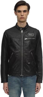 G Star Cny Studded Leather Jacket