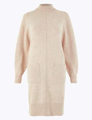 Per Una Per UnaMarks and Spencer Cotton Rich Knitted Patch Pocket Dress