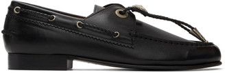 Toga Pulla Black Tassel Loafers