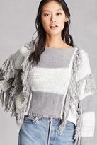 Forever 21 FOREVER 21+ Fringed Colorblock Sweater