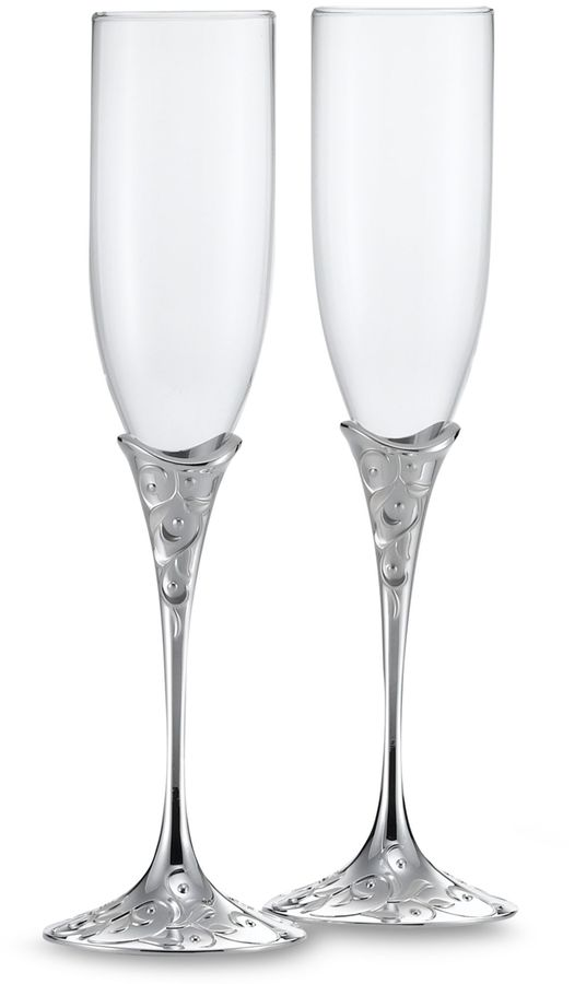 Lenox Opal innocenceTM Silver Plated 6-Ounce Toasting Flutes (Set of 2)