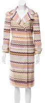 Missoni Chevron Patterned Double-Breasted Coat