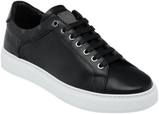 MCM Men's Low Top Sneakers in Visetos and Leather