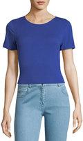 Kensie Tieback Short-Sleeve Crop Top