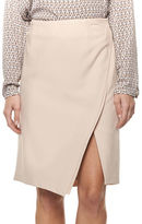 Dex Faux Wrap-Front Pencil Skirt