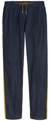 Sandwich Side Stripe Tapered Denim Trousers