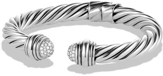 David Yurman Cable Classics Pave Tip Bracelet with Diamonds