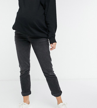 New Look Maternity mom jeans in black wash
