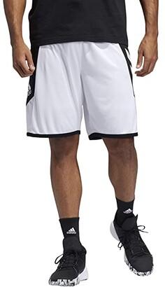 adidas Pro Madness Shorts (White/Black) Men's Shorts