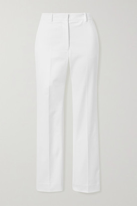 Joseph Coleman Cropped Stretch-cotton Straight-leg Pants