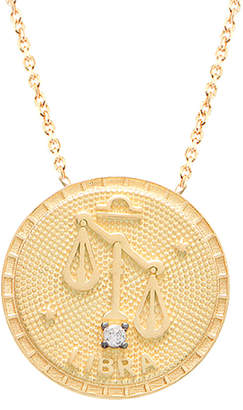 GABIRIELLE JEWELRY 22K Over Silver Libra Cz Necklace