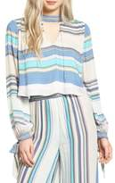 Wildfox Couture Stripe Split Back Top
