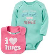 Carter's 2-Pc. I'm Adorable Cotton Bodysuit and Bib Set, Baby Girls (0-24 months)