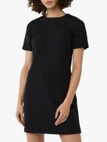 Warehouse Short Sleeve Shift Dress, Black