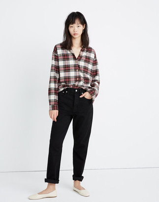 Madewell Flannel Shirt-Jacket in Tartan Plaid