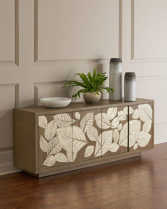 Global Views Teak Leaf Entertainment Console